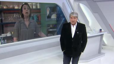 Cátia Fonseca conversa com José Luiz Datena no Brasil Urgente