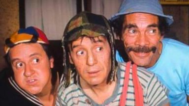 Carlos Villagrán, Chespirito e Ramón Valdés como Quico, Chaves e Seu Madruga