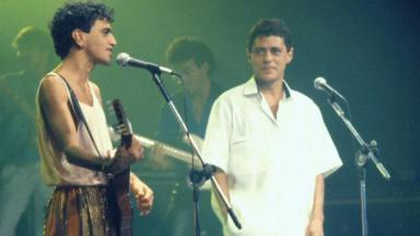 Chico & Caetano em programa de 1986 na Globo