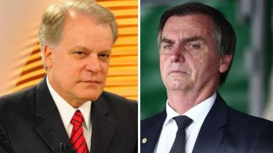 Chico Pinheiro e Jair Bolsonaro