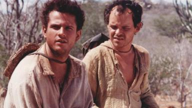 Selton Mello e Matheus Nachtergaele em cena do filme e minissérie O Auto da Compadecida