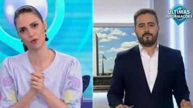 Chris Flores conversa com o jornalista Felipe Malta no Fofocalizando