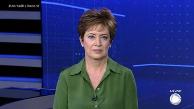 Christina Lemos, apresentadora do Jornal da Record