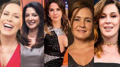 Adriana Esteves, Regina Volpato, Cláudia Raia, Ana Paula Padrão e Luciana Gimenez