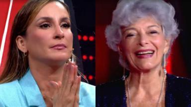 Time de Claudia Leitte no The Voice + tem Vera do Canto e Mello, de 84 anos