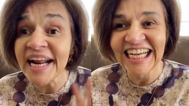 Cláudia Rodrigues nos stories do Instagram