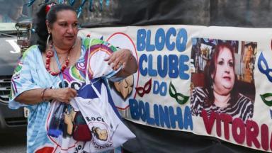 Vitória Cury homenageia o pai Bolinha em Bloco de Carnaval