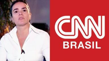 Renata Afonso e logo da CNN Brasil