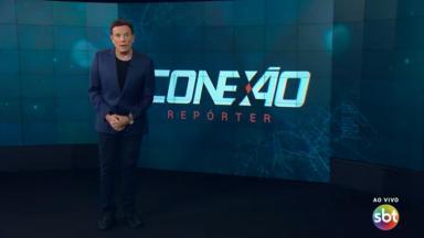 Roberto Cabrini apresenta edição ao vivo do Conexão Repórter no SBT