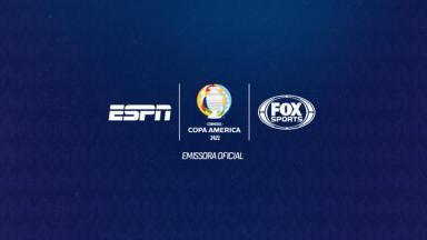 Logotipo da Copa América nos canais esportivos do Grupo Disney