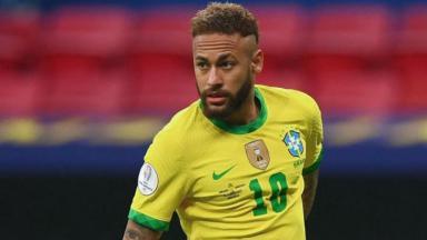 Neymar durante jogo da seleção na Copa América