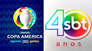 Logo da Copa América e SBT