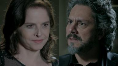 Drica Moraes e Alexandre Nero em cena da novela Império, em reprise na Globo