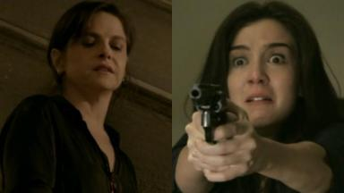 Drica Moraes e Marjorie Estiano em cenas da novela Império, em reprise na Globo
