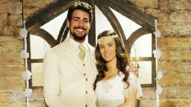 Cauã Reymond e Bianca Bin em Cordel Encantado