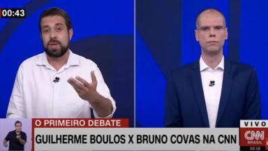 Guilherme Boulos e Bruno Covas na CNN Brasil