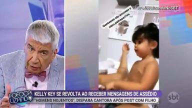 """Décio Piccinini comentando reportagem do """"Fofocalizando"""""""