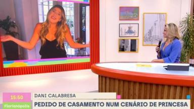 Dani Calabresa participa do Se Joga, apresentado por Fernanda Gentil