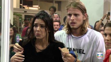 Ivy e Daniel em tensão na Casa de Vidro quando foram selecionados