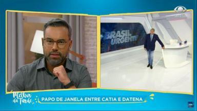 Alex Sampaio em papo de janela com Datena