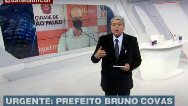 Datena durante Brasil Urgente