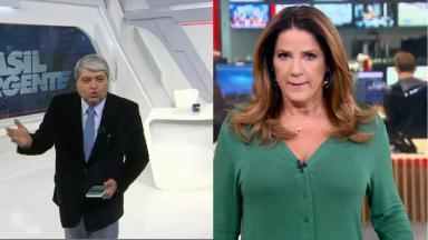 Christiane Pelajo e José Luiz Datena