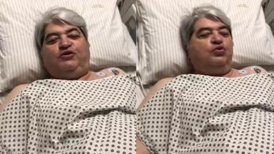 Datena em dois momentos depois de cirurgia