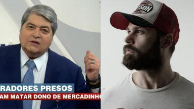 Datena no Brasil Urgente; Datena Júnior, de perfil, em foto posada