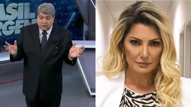 José Luiz Datena e Antônia Fontenelle