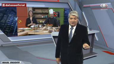 José Luiz Datena conversa com Cátia Fonseca
