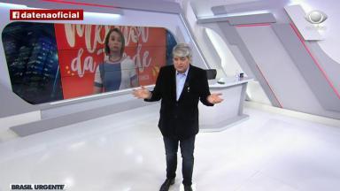 José Luiz Datena conversa com Cátia Fonseca em retorno ao Brasil Urgente