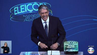 William Bonner no debate da Globo