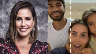 Deborah Secco, Hugo Moura e Maria Flor