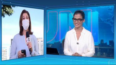 Délis Ortiz e Renata Vasconcellos