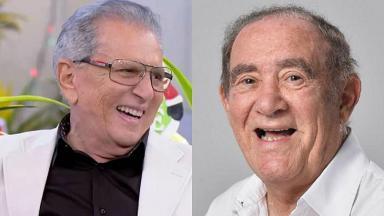 Renato Aragão e Carlos Alberto de Nóbrega