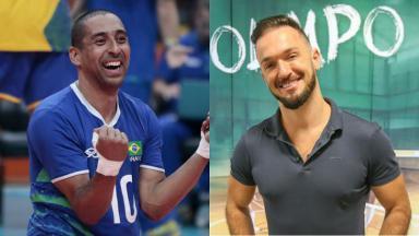Serginho (à esquerda) e Diego Hypólito (à direita) serão comentaristas da Globo