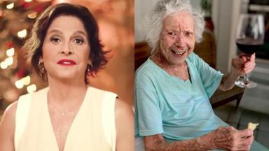 A atriz contou sobre a perda da avó na noite de domingo (12)