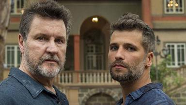 Os atores Antonio Calloni e Bruno Gagliasso