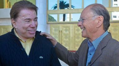 Silvio Santos e Edir Macedo em encontro