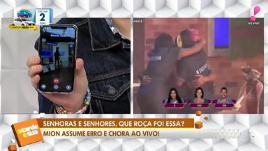 Felipeh Campos exibe telefone de Eduardo Costa