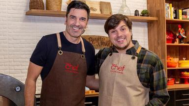 Edu Guedes e Lucas Salles no programa The Chef