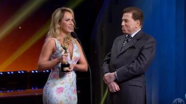 Eliana e Silvio Santos