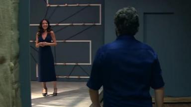 Ana Paula Padrão recebendo Eduardo