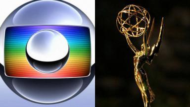 Logotipo da Globo e prêmio do Emmy