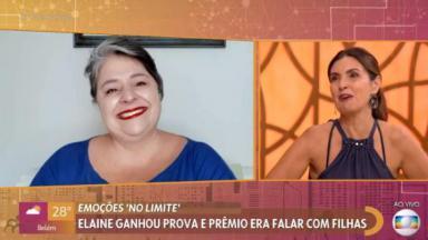 Fátima Bernardes chora durante o programa Encontro