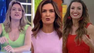 Fernanda Gentil, Fátima Bernardes e Patricia Poeta