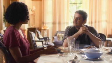 Shirley e Afonso jantando