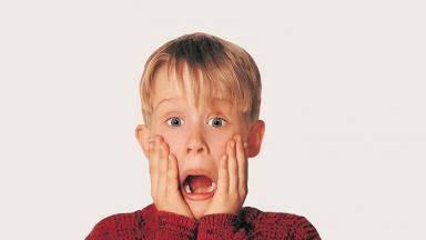 Macaulay Culkin divulgando Esqueceram de Mim