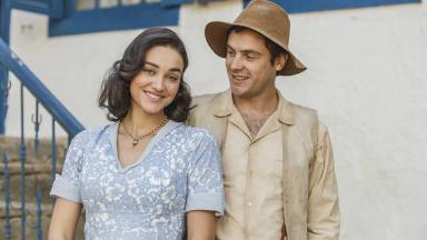 Débora Nascimento e Sergio Guizé