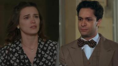 Bianca Bin e Rainer Cadete como Maria e Celso em cena de Êta Mundo Bom, em reprise na Globo